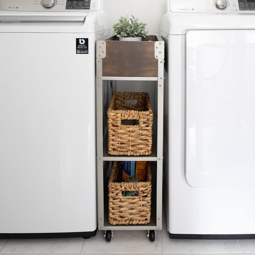 rolling storage cart for laundry room