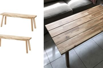 skogsta natural wood coffee table