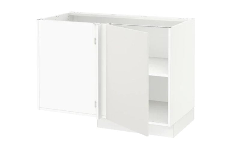 kitchen island conversion from sektion corner cabinet