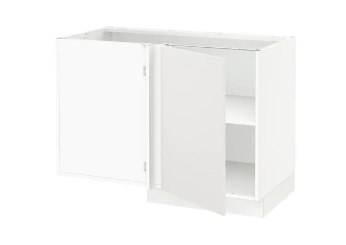 kitchen island conversion from sektion corner cabinet