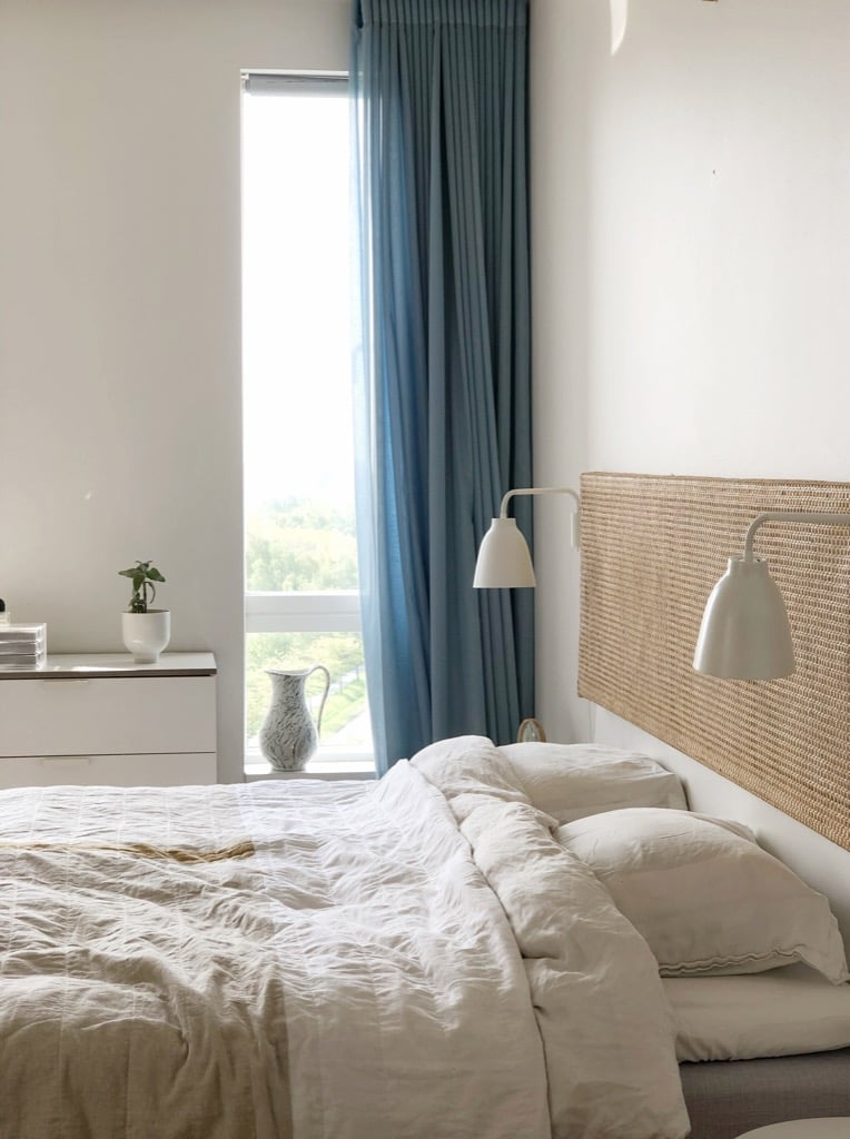 cane headboard - cozy bedroom ideas