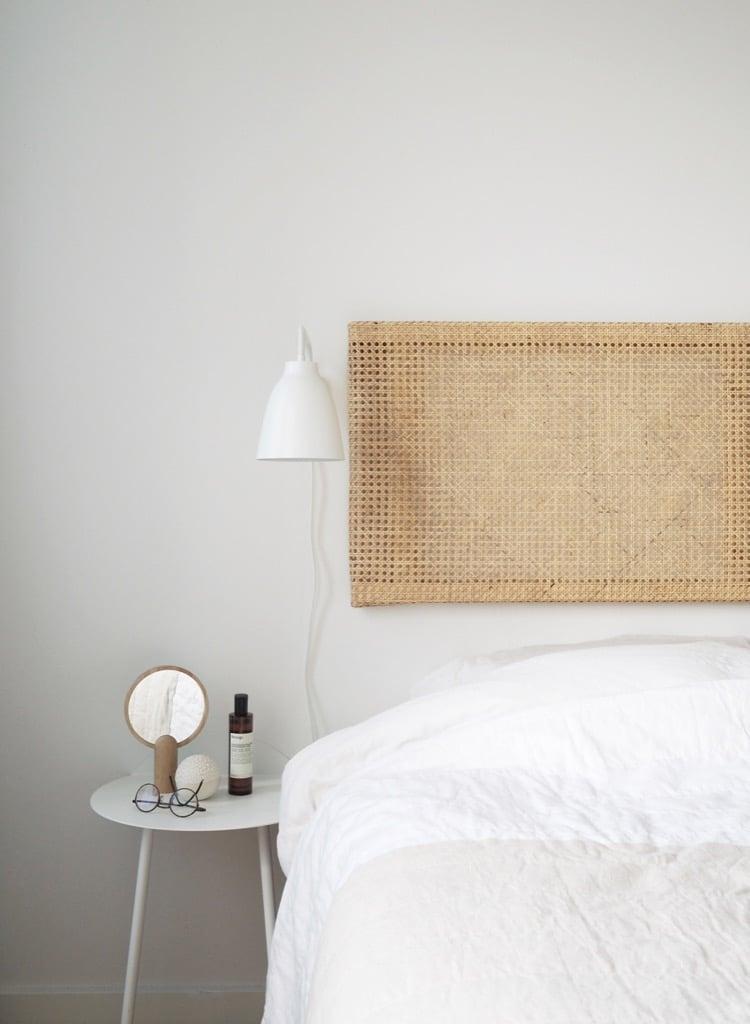 cane headboard DIY IKEA hack