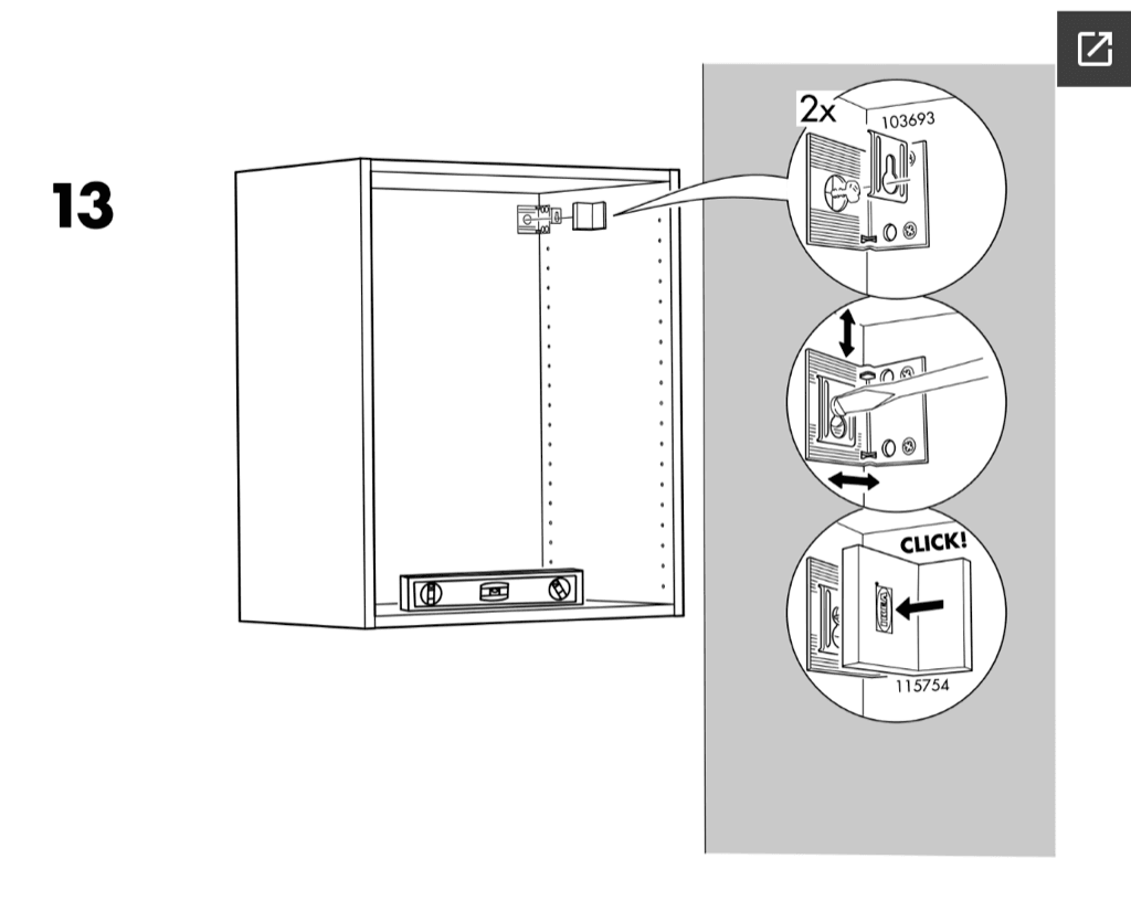 ikea kitchen system - faktum wall cabinets