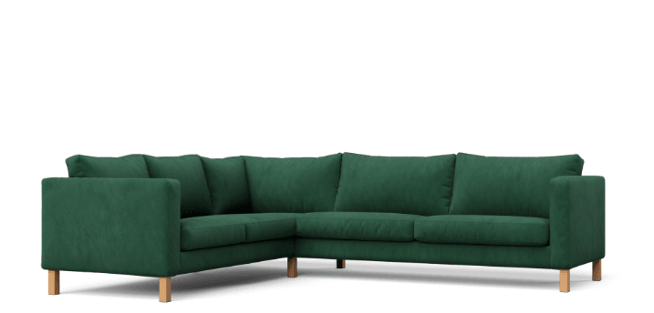 KARLSTAD in Rouge Emerald slipcover