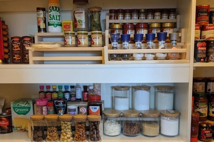 pantry tiered organizer