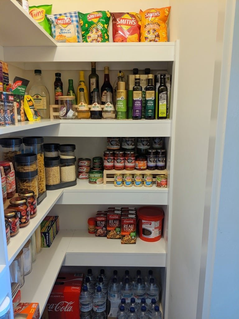 IKEA BEKVAM spice racks as pantry organisers
