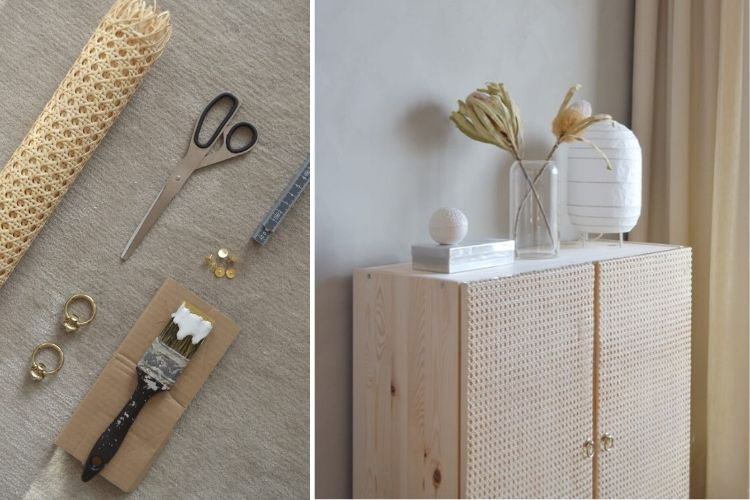 Missed out on the Stockholm rattan cabinet? Make this! IKEA Hackers