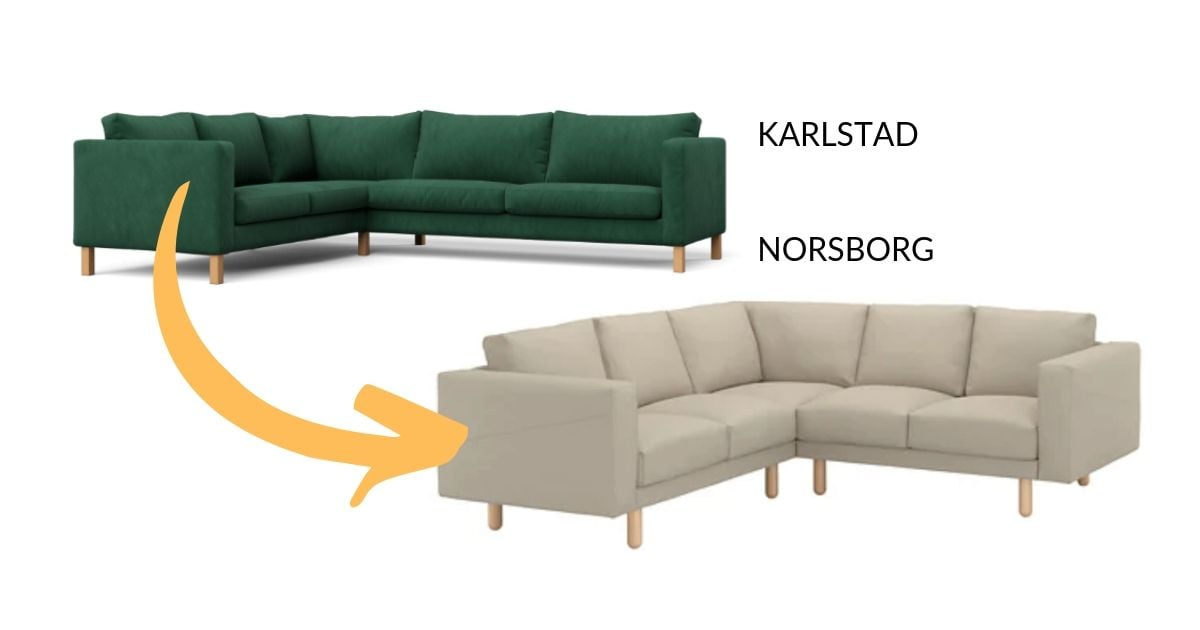 Brilliant Karlstad Slipcover Resized To Fit Norsborg Sofa Ikea Hackers Machost Co Dining Chair Design Ideas Machostcouk