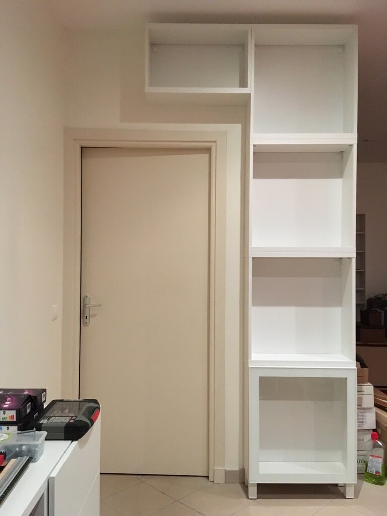 stacking BESTÅ cabinets - how to