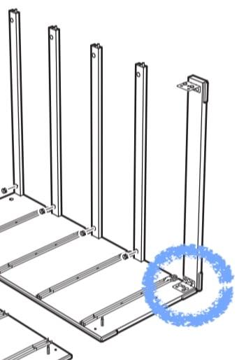 fix dresser face rails
