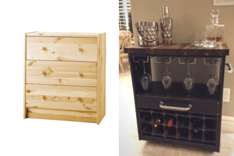 IKEA-RAST-dresser-hack-wine-cart
