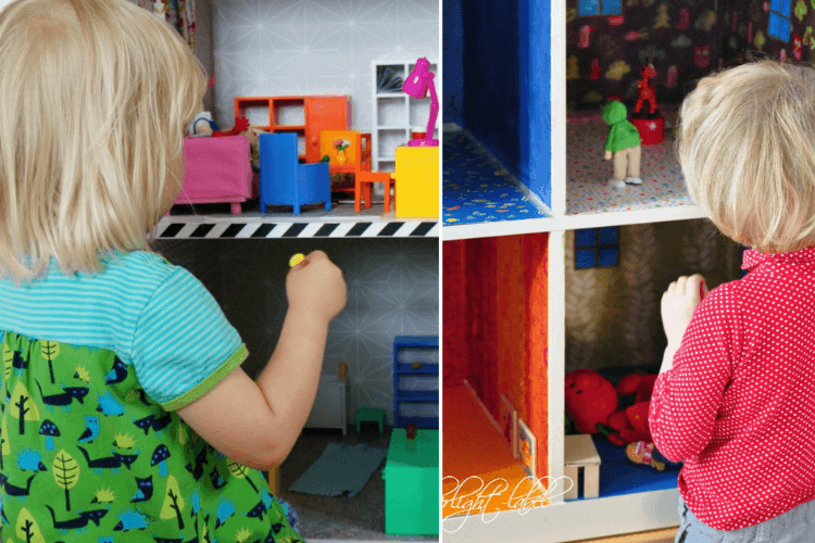 IKEA DIY dollhouse expedit kallax