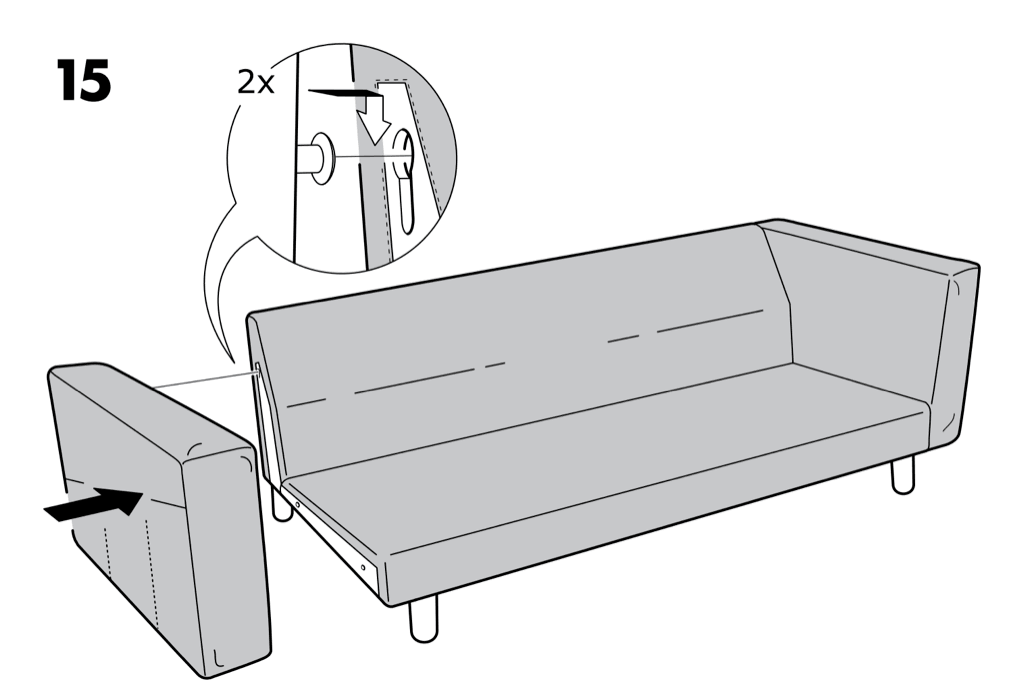 NORSBORG sofa assembly