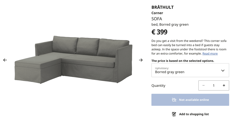 ikea brathult sofa bed