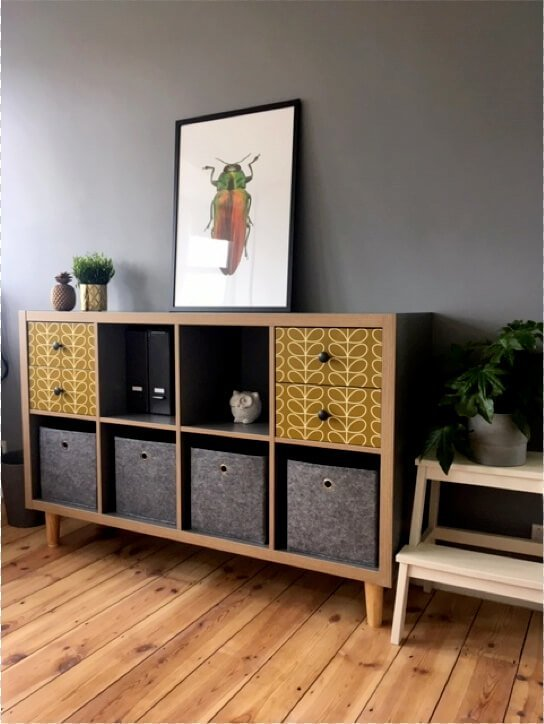 IKEA KALLAX office sideboard