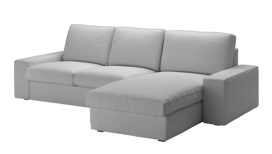 kivik sofa and chaise - armrests