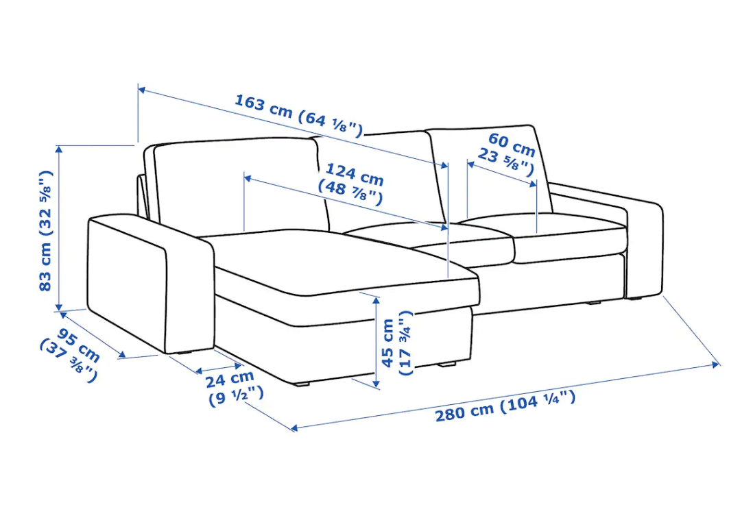 KIVIK armrests and sofa