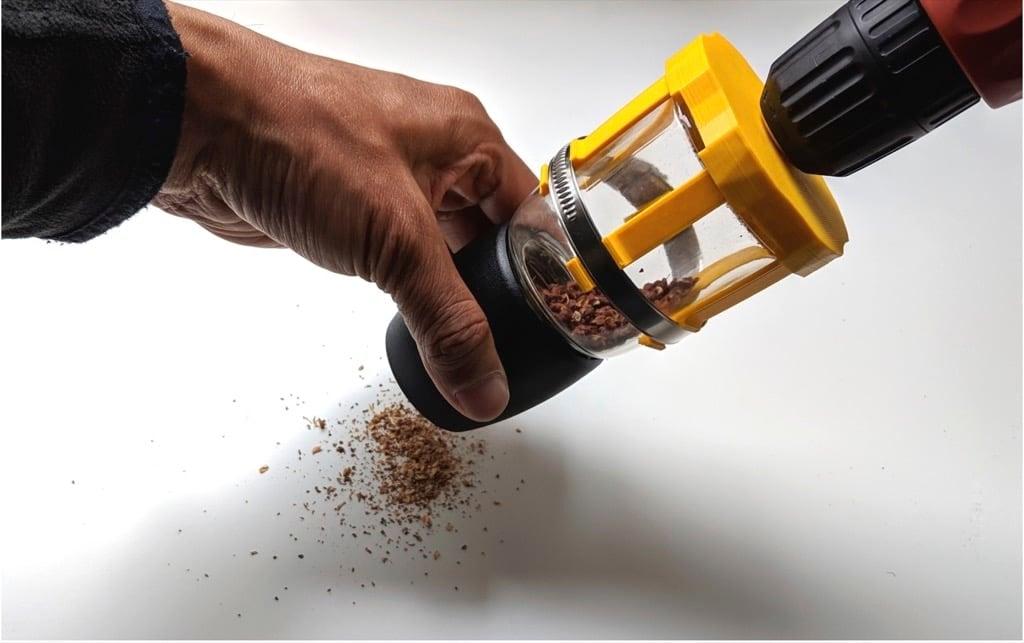 manual IKEA IHÄRDIG spice mill to motorized spice grinder
