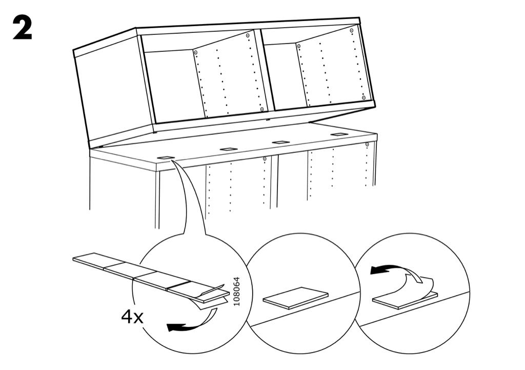BESTÅ stacking instructions