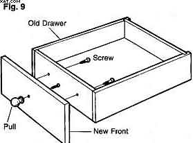 new drawer front