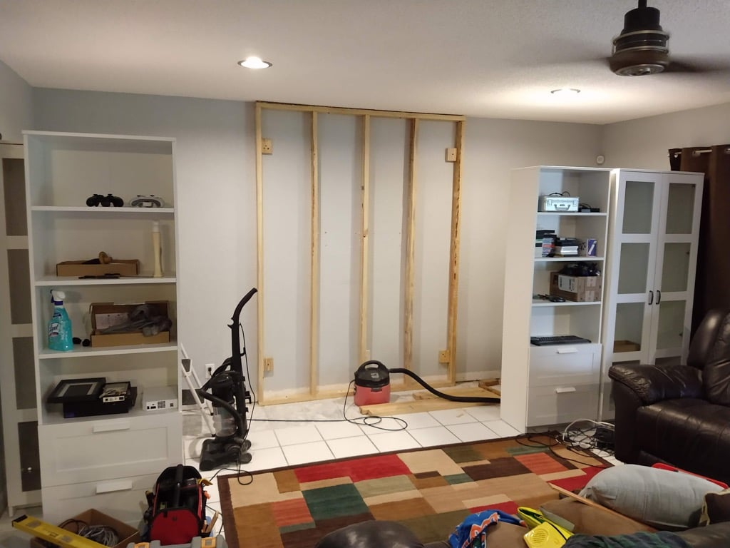 false wall structure