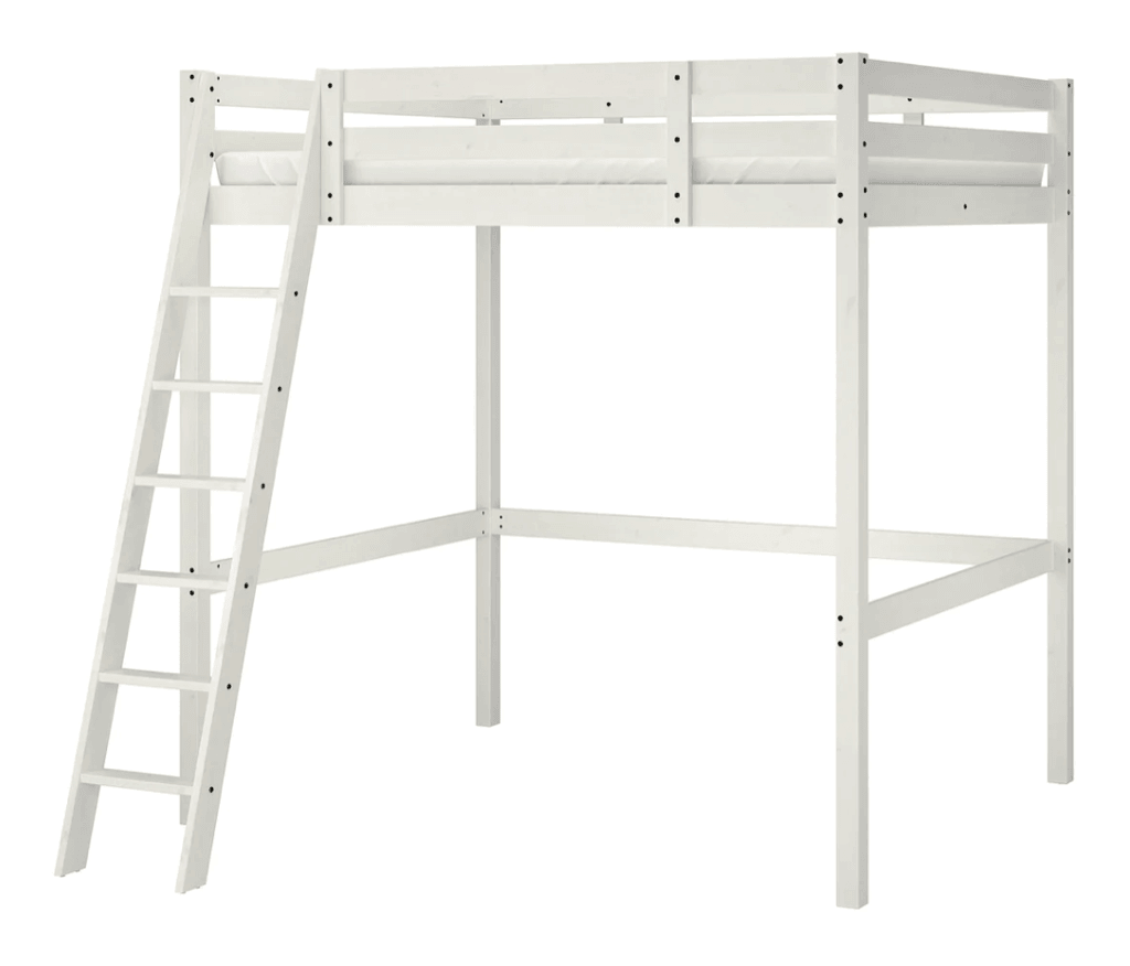 STORA king size loft bed