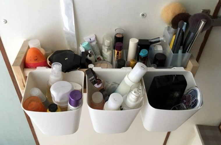 back of door makeup organizer