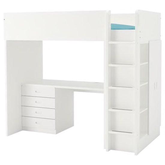 STUVA loft bed with closet