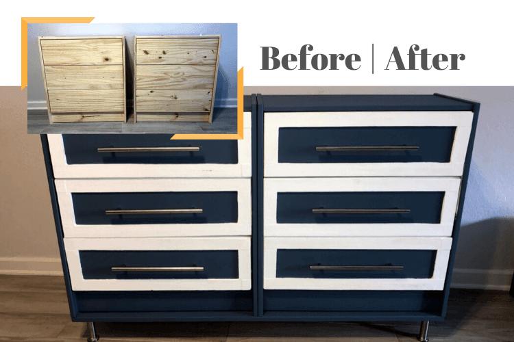6 drawer dresser hack