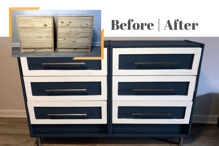 6 drawer dresser hack