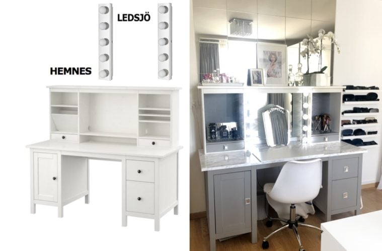 beauty vanity ikea hemnes