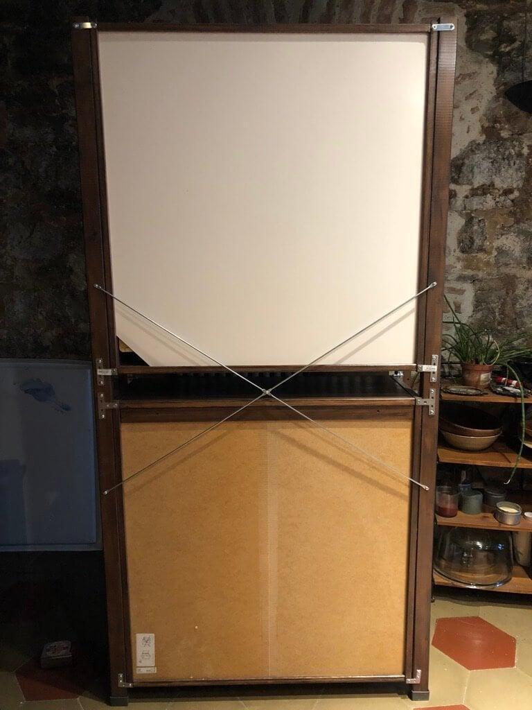 ivar art studio desk + storage hack