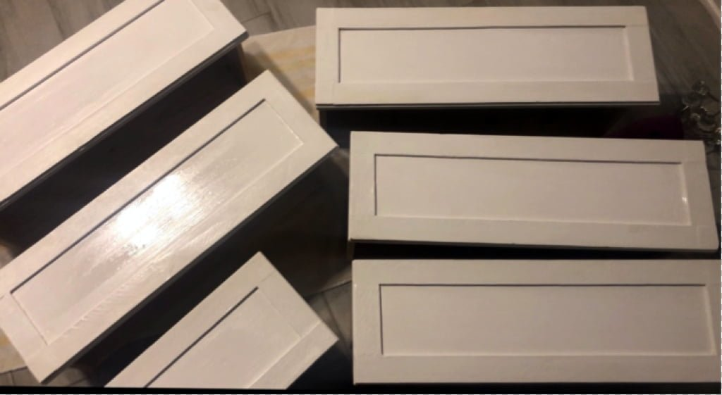 painting the drawers