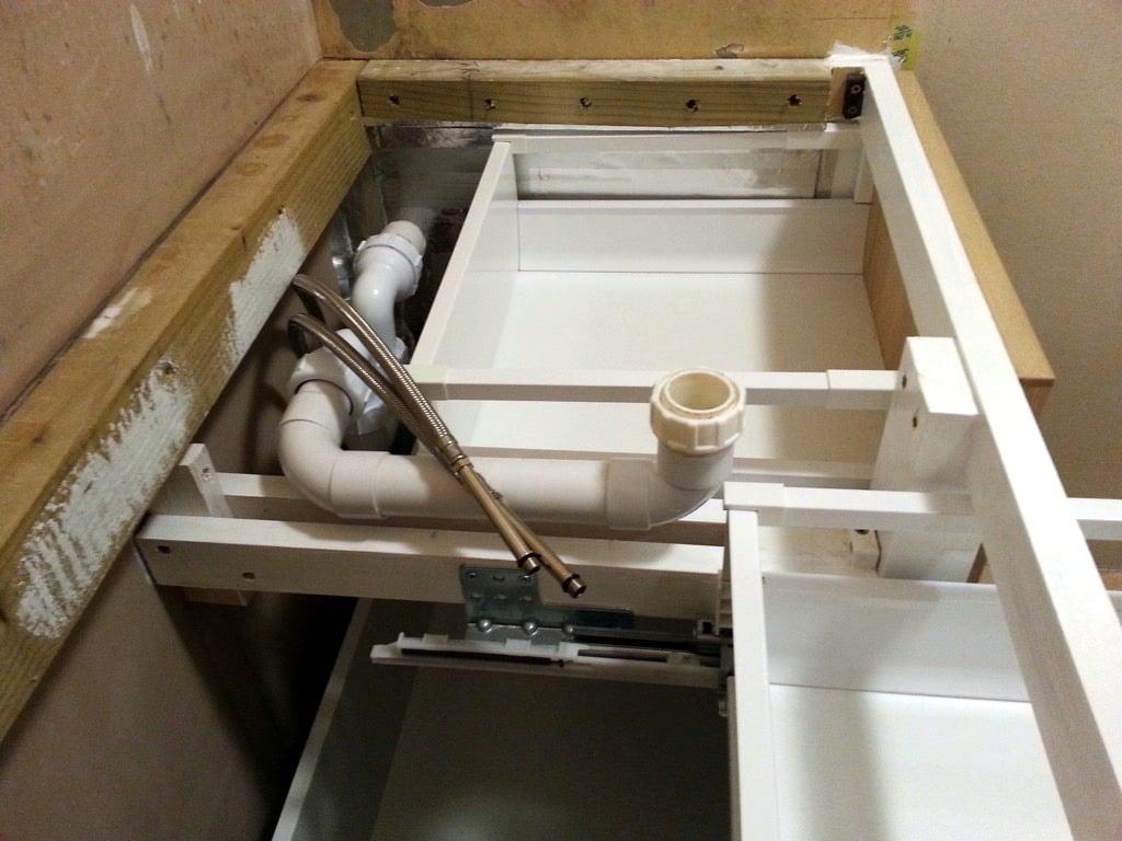 alcove cabinet - process