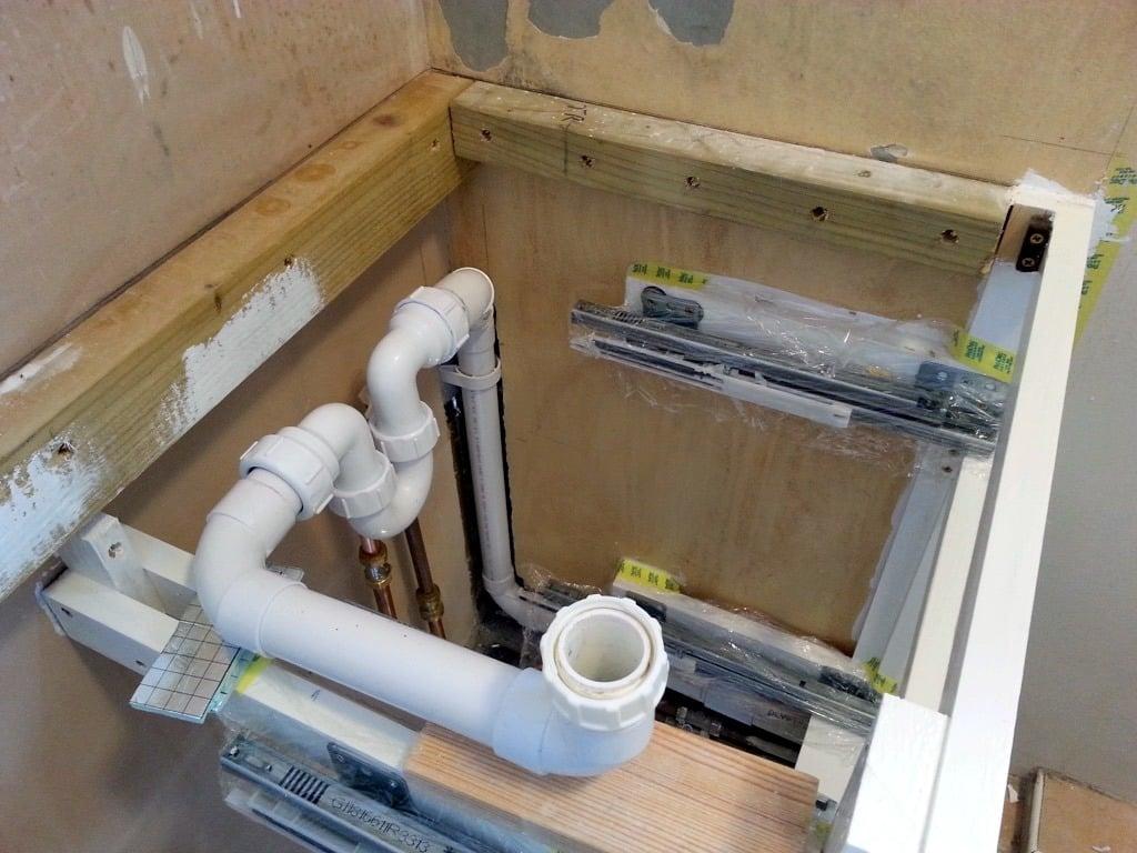 waste pipe run