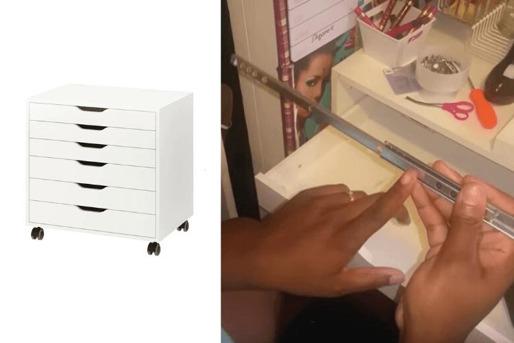 Alex drawer full extension