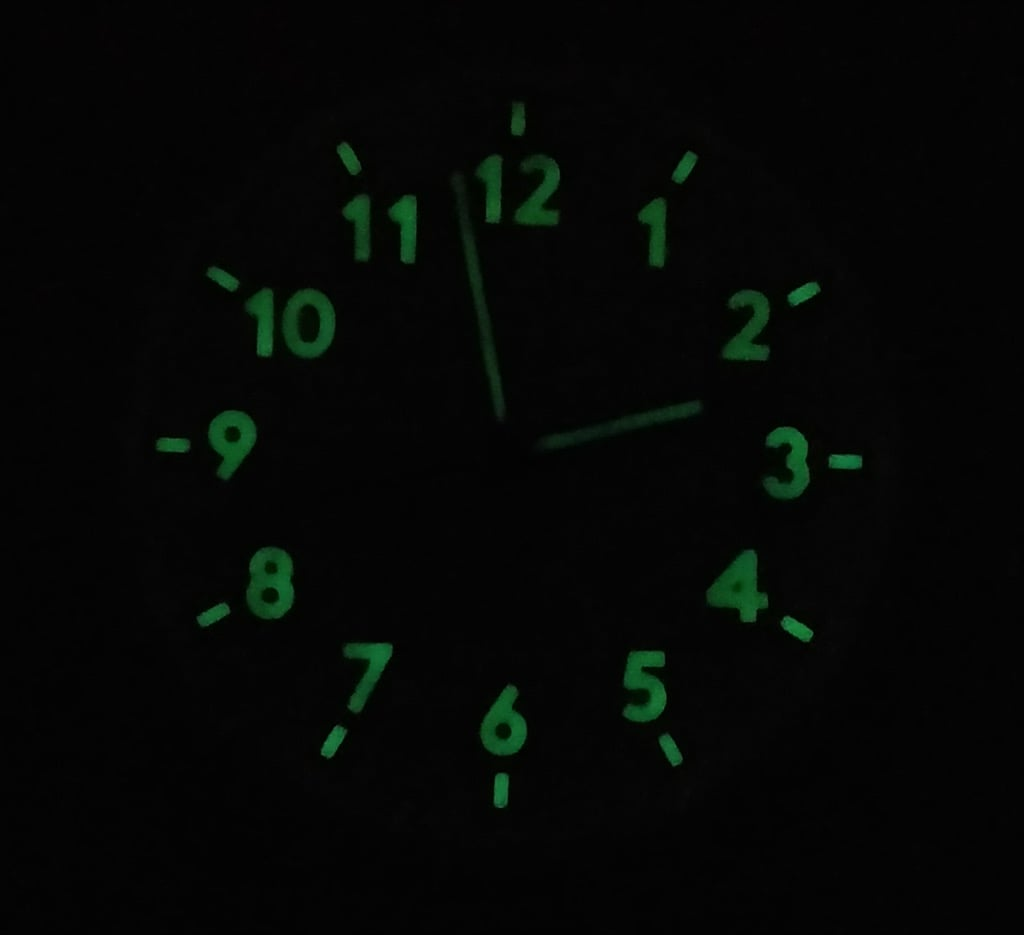 The IKEA STOMMA glow in the dark clock