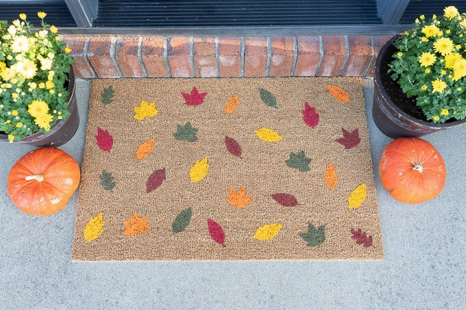 IKEA doormat - fall design