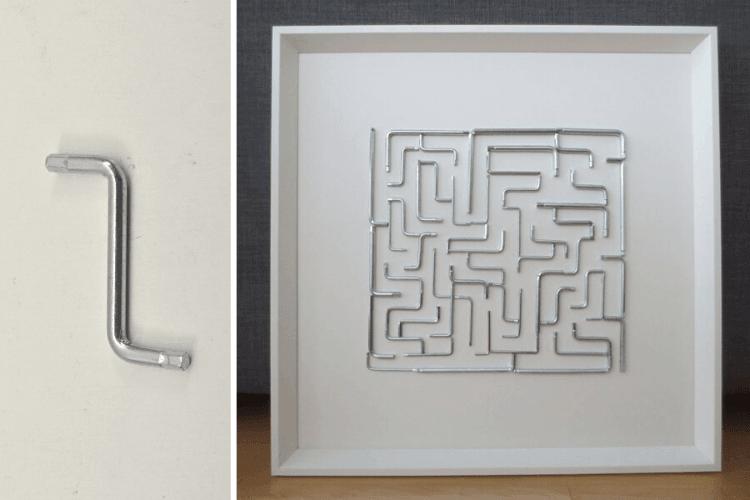 ikea hardware hex maze