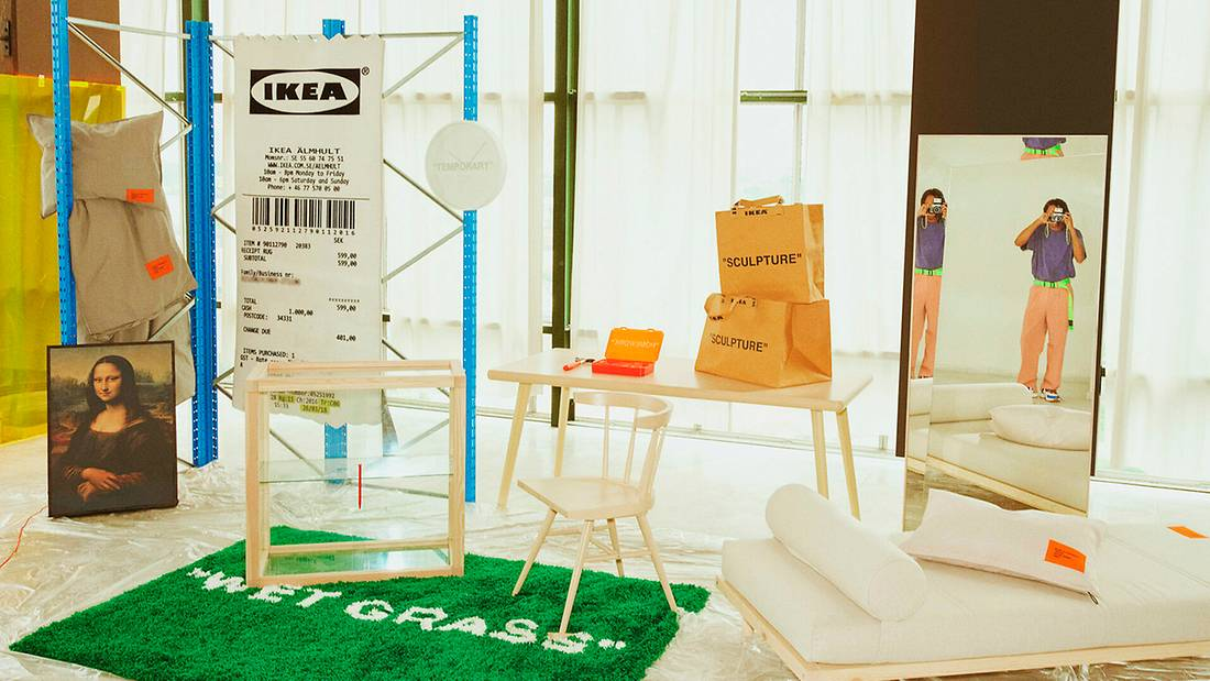Virgil Abloh Ikea markerad collection