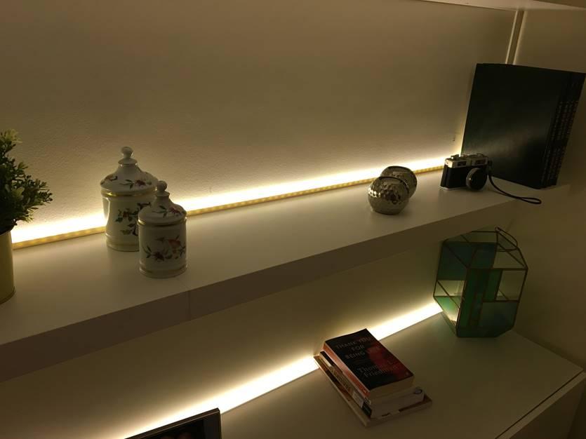 illuminated bookshelf IKEA BESTA and LACK
