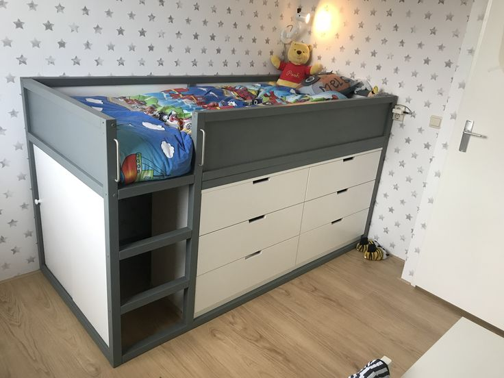 kura bed with chest of drawers