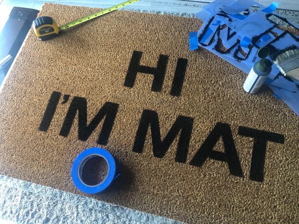 IKEA doormat - with words