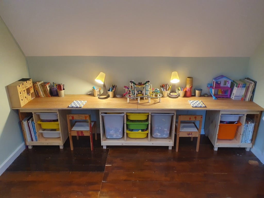 (Not another) IKEA TROFAST children's desk and chairs!