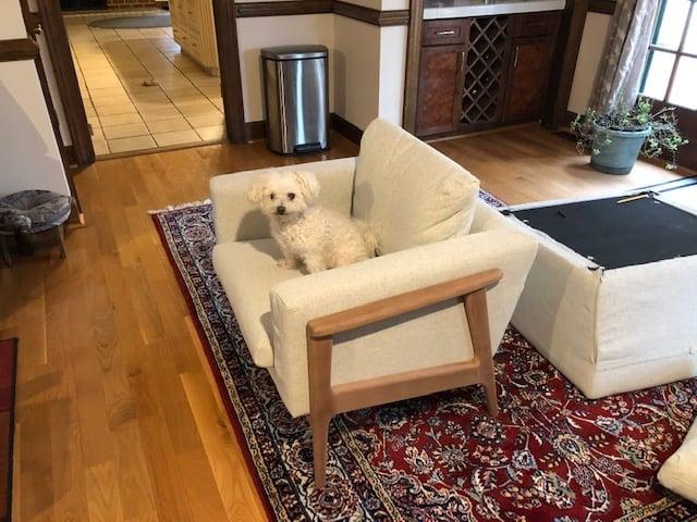 ikea koarp armchair upgrade