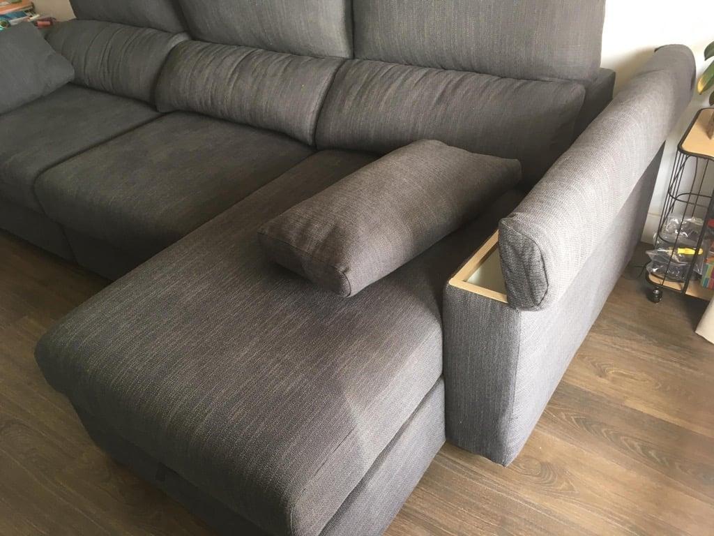 sofa armrest storage