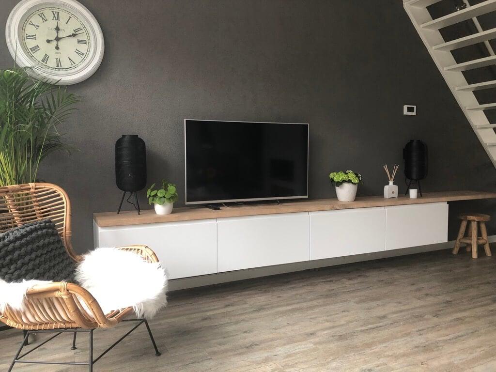 IKEA kitchen units as wall mounted tv cabinet