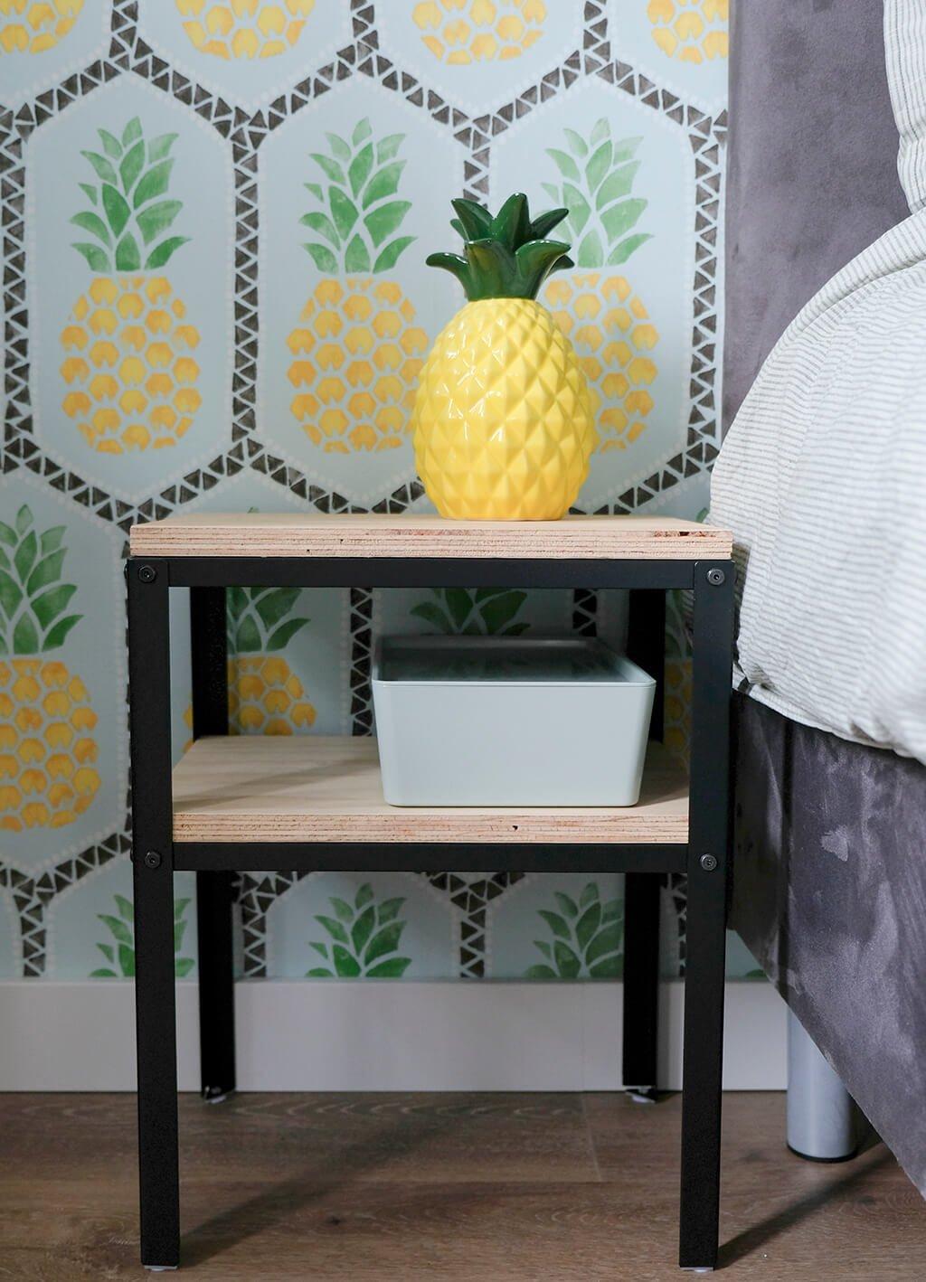 KNARREVIK nightstands with plywood