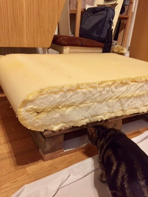 double layer of foam