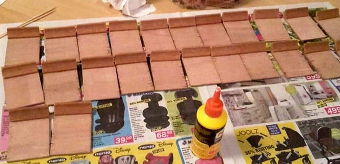 glueing process